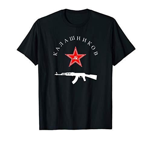 Sowjetische T-Shirt Kalaschnikow AK-47 Vintage Russian Gun