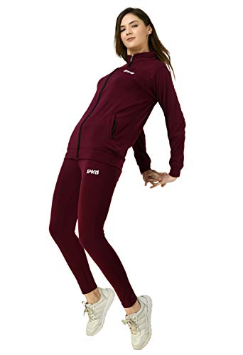 Yogyata Women's Track Suit (Maroon, medium)
