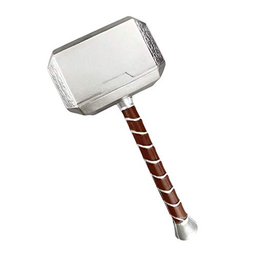 Halloween Anime Props Foam Hammer Props Replica for Adults Thor's Hammers Cosplay for Birthdays Gifts Tricky Props Grey