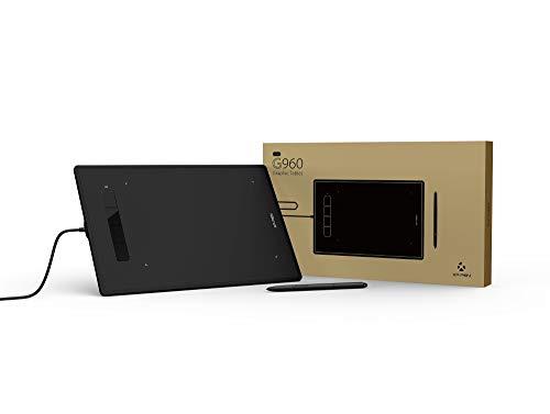 XP-PEN G960S Tableta Gráfica para Dibujar de 9x6 Pulgadas con Lápiz sin Batería Compatible con Windows 10/8/7, Mac OS y Android