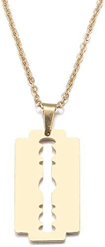 MNMXW Damen Edelstahl Liebhaber Gold und Silber Farbe Rasiermesser Anhänger Charm Schmuck Schmuck Armbänder-Gold-Farbe