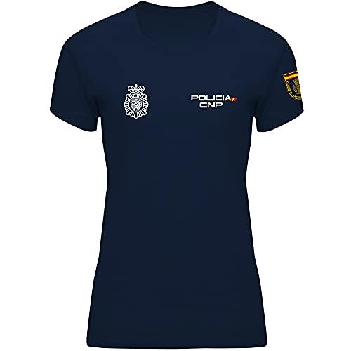 Crossfire Policía Nacional Mujer - Camiseta Técnica de Mujer de la Policía Nacional (S)