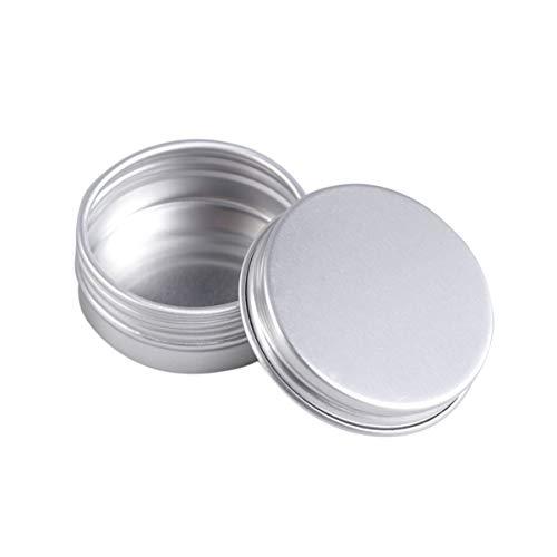 Garneck 15Ml Metall Lagerung Dosen Silber Aluminium Dosen Gläser mit Schraube Top Deckel Runde Leere Kosmetische Probe Container Reise Dosen Boxen für Handwerk
