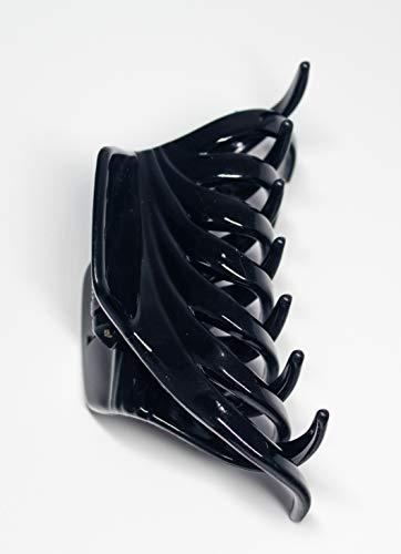 Haarklammer für Damen, 9 cm, Schwarz