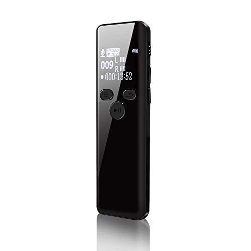 【2020 最新版】ボイスレコーダー ICレコーダー 録音機 ハイレゾ録音 8GB 広幅スクリーン 小型 超薄 超軽量 大容量 高音質 長時間録音 液晶画面 内蔵マイク 定時録音 変速再生 パスワード保護 MP3プレーヤー等多機能搭載 簡単操作 セクハラ対策 日本語説明書付き