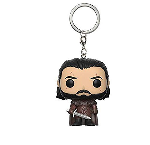 Juego de tronos versión Q llavero Jon Snow con espada Daenerys Targaryen Drogon coche llavero colgante anillo figura de acción juguetes-nuevo jon