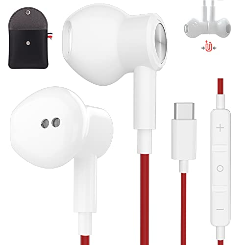 Typ C Kopfhörer für Samsung S21 Ultra USB C Ohrhörer mit magnetisch verdrahtetem magnetischem USB C In-Ear Headset für OnePlus 9 8T 7Pro Huawei P40 Pro Galaxy S21 Plus Note 20 Ultra Google Pixel 4 XL