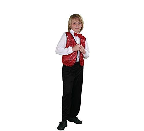 Disfraz de Charlestón rojo para niños en varias tallas