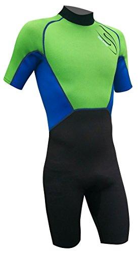 Seland ARI Traje, Unisex niños, Verde/Azul/Negro, 10