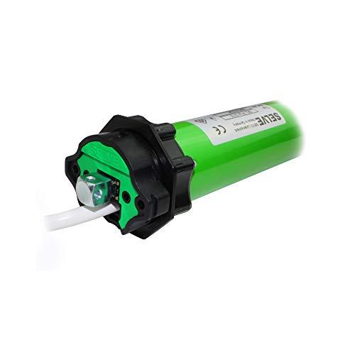 smarotech® Rollladen-Nachrüstset: Rohrmotor Selve SE Pro 2/10 inkl. 4-Kant-Stahl-Stift mit 12mm Kopf, Anschlusskabel und SW 60 Adapter. (SEL Plus 2/10 ohne Lager, SecuBlock)