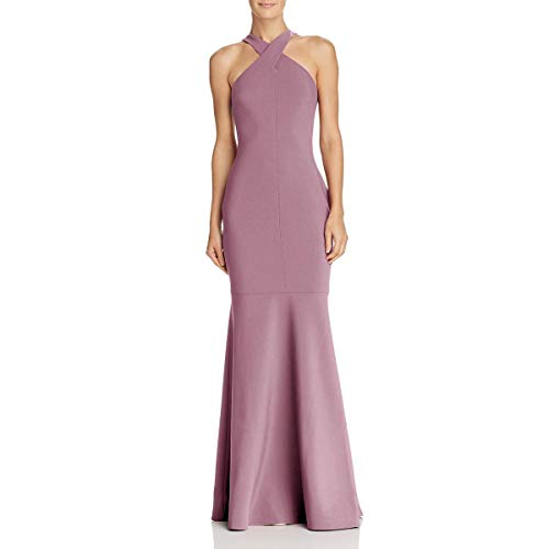 LIKELY Womens Willa Crossover Mermaid Halter Dress Pink 0