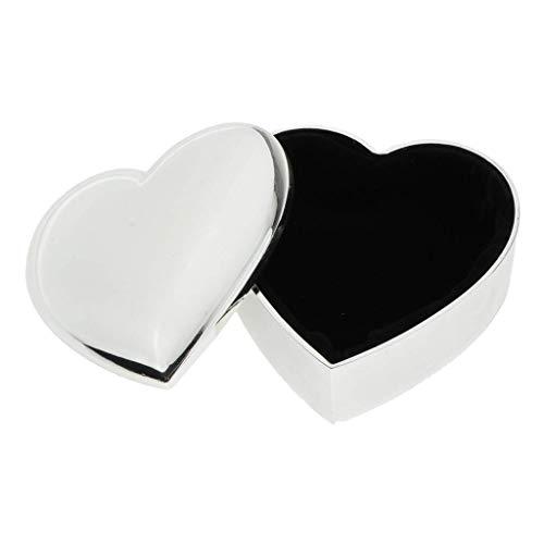 Caja de regalo de corazón creativo Caja de pareja Gemas Trinket Joyero Organizador