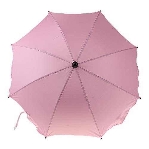 Strand Sonnenschirm Faltbar Strandschirm Balkonschirm für Sommer - Rosa, wie beschrieben