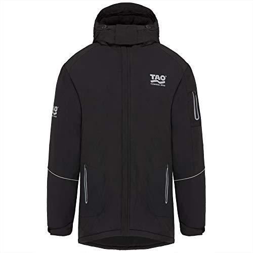 TAO Sportswear Dicke gefütterte Winterjacke mit Kunstdaunen für Damen und Herren Padded Jacke Black XL