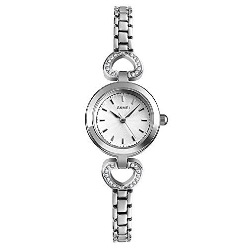 KLFJFD Reloj De Cuarzo Resistente Al Agua con Esfera Pequeña Informal A La Moda para Mujer, Reloj De Moda De Regalo De Lujo con Luz Creativa para Niñas