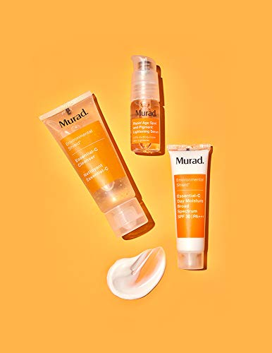 Murad Start Bright Here Kit - Rapid Lightening Skin Care Kit - Everyday Skin Care Pack with Trial Size Essential-C Cleanser, Essential-C Day Moisture and Rapid Age Spot and Pigment Lightening Serum 6