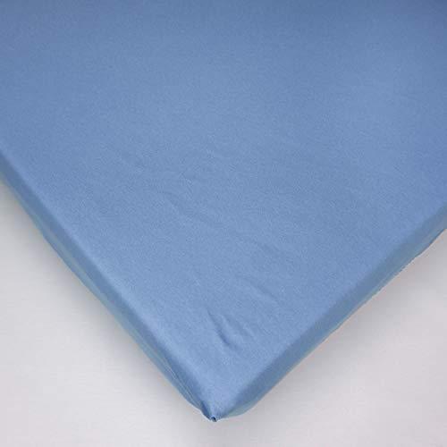 Jersey 100% Baumwolle Spannbetttüch, Passend für 160 x 70 Juniorbett Matratze (Blau)