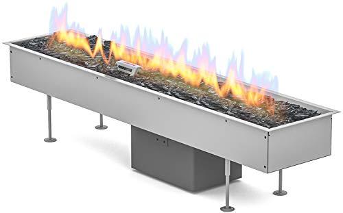 Planika Gas Line Outdoor GaLiO Automatic [Quemador automático de gas empotrable para exteriores]: bombona de gas (propano, butano), sin mando a distancia, sin módulo WLAN