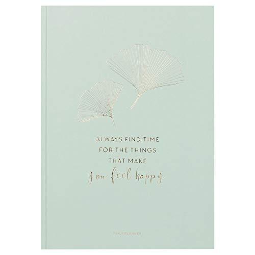 JO & JUDY Tagesplaner | Mindfulness | A4 - Mint mit Goldfolienprägung - 29,7 x 21 cm - undatiert - 172 Seiten