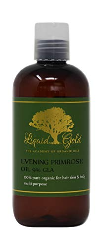 8 Fl.oz Liquid Gold Evening Primrose Oil 100 % Pure & Organic for Skin Hair and Health