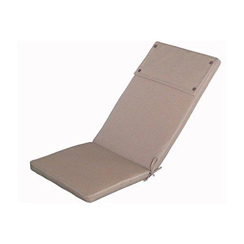 Cuscino imbottito tortora sfoderabile poltrona sedia esterno Real Alto Cu805701