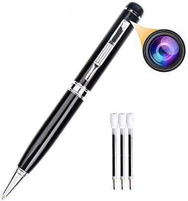 Bescar Multi-Function Hidden Camera Spy Pen Camera -Full HD 1080P Video Camera Pen Loop Recording, Plug and Play to PC/Mac DVR Cam with Free 5 Black Refill