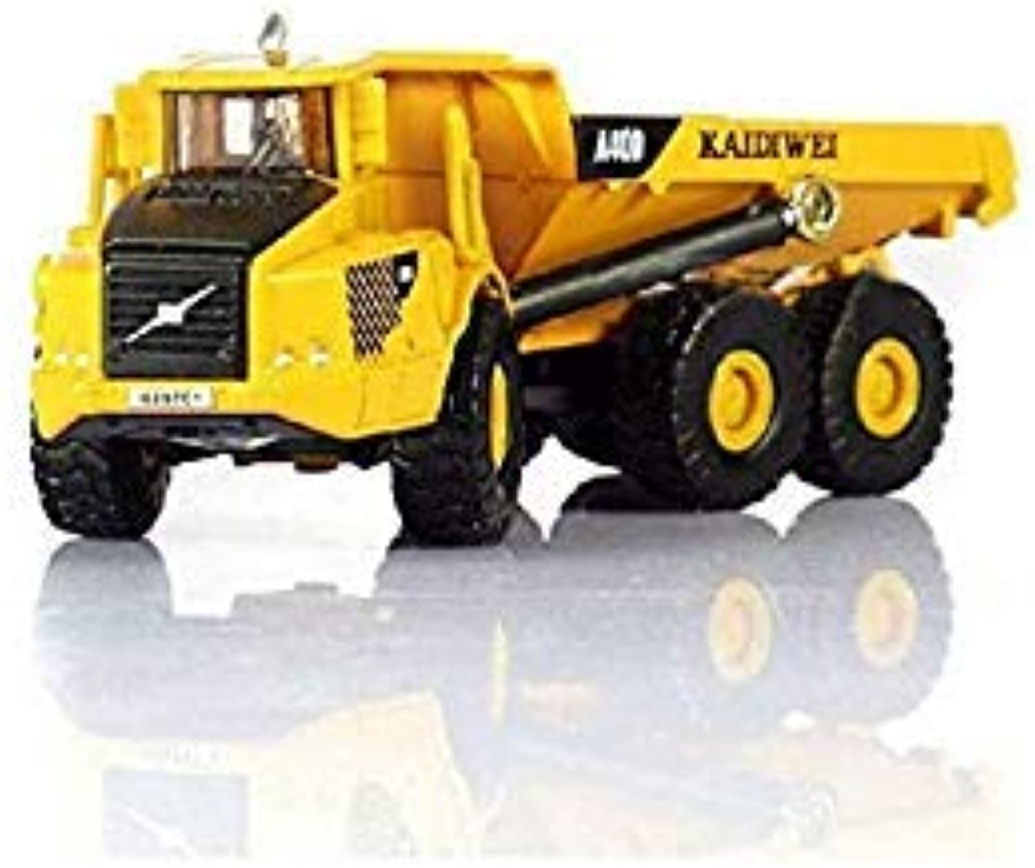 Hot Simulation 1 87 Scale Mini City Engineering Vehicle diecast 6 Wheel Dump Truck Model Alloy Toys Collection for Boys Gifts