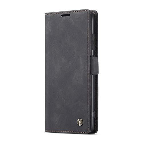 JMstore hülle kompatibel mit Xiaomi Mi Note10/CC9 Pro, Leder Flip Schutzhülle Brieftasche Handyhülle mit Kreditkarten Standfunktion (Schwarz)