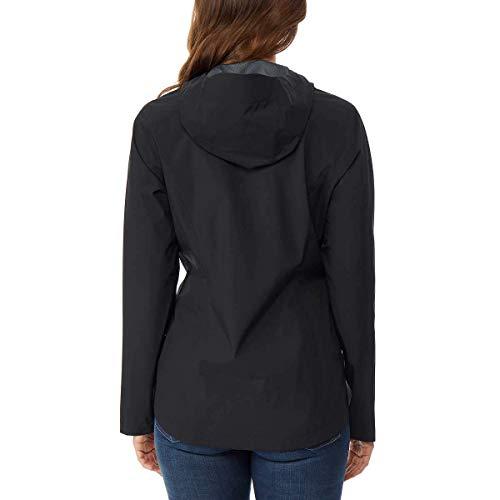 32 DEGREES Women?s Rain Jacket Coat Weatherproof, Black, X-Large