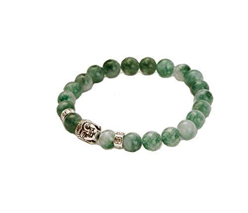 Dark Green Chinese Synth Jade Jadeite Buddha Zen Buddhist Prayer 8mm Beads Mens Womens Stretch Good Luck Yoga Bracelet