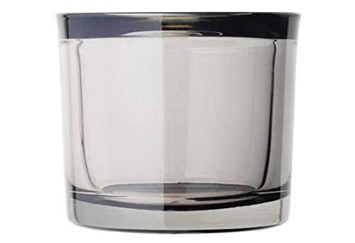 Blomus - MIMO - Windlicht / Teelichthalter /Kerzenhalter - Fungi Braun - Glas - (DxH): 9 x 8 cm