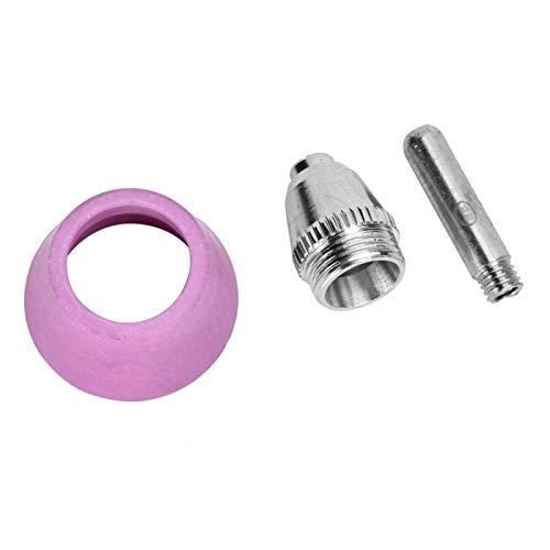 45 Stück/Set Plasma Shield Cup Set Elektroden-Düsenspitze Shield Cup Plasma-Elektrode CNC-Werkzeugmaschine Plasma-Schneiddüse für AG60 / SG55 Plasma Cutter Torch