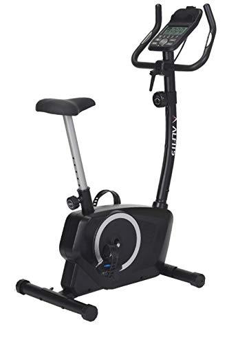 アルインコ(ALINCO) エアロマグネティックバイク フィットネスバイク 心拍・体力測定付き 8段階負荷調節 移動キャスター付き ブラック AFB5220K