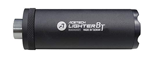 ACETECH-Lighter BT- Airsoft Gun 14mm/11mm Pistol Tracer Unit/Chronograph Glow in Dark (Black Flat)