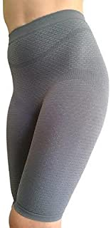 Bioflect® FIR Therapy Anti Cellulite Micromassage Compression Shorts for Lymphedema & Lipedema Support (M/L Nude)