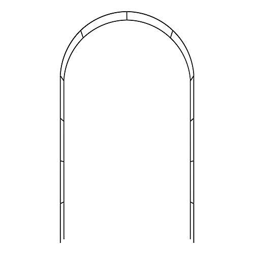 Deuba 2 x Rosenbogen Rankgitter Rankhilfe Rosenhilfe | 240 cm x 140 cm x 37 cm | pulverbeschichtetem Metall | witterungsbeständig - 4