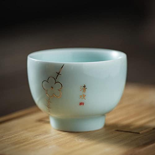 Taza de té tradicional china, tazas de té de kungfu de cerámica, taza de té de té de té de porcelana de China vintage tazas de regalo de la artesanía-mi