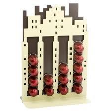 Ernesto - Porta capsule di caffè con ripiani, contiene fino a 20 capsule, ideale per capsule del marchio Nespresso City