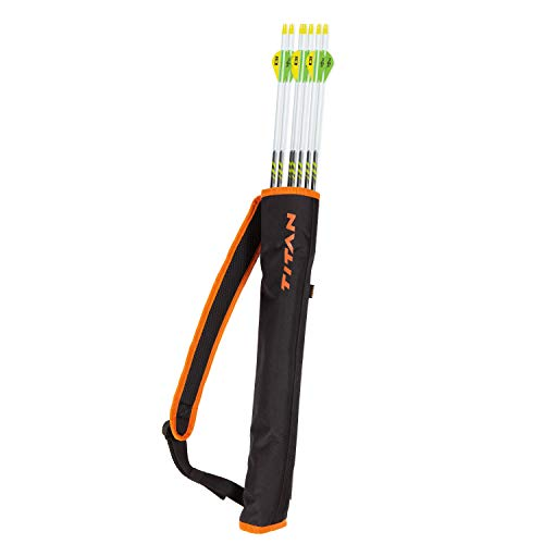 Allen Youth Archery Compact Back Arrow Quiver, Orange/Black