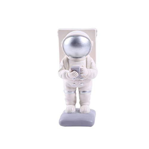 VOSAREA Astronauta Portacellulare Astronauta Figurine Portacellulare Tavolo Decorativo Porta Telefono da Tavolo Guardando Videotelefono per Casa