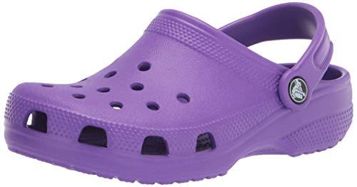 Crocs Classic, Zuecos Unisex Adulto, Morado (Neon Purple), 37/38 EU