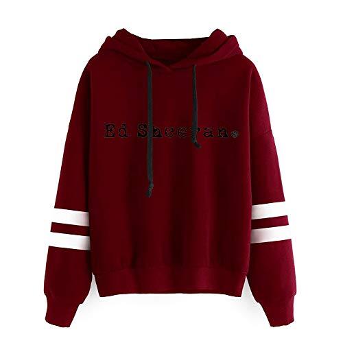 OENKIKIN Ed Sheeran Pullover Klassischer hochwertiger Trend-Baumwollpullover Klassischer Mode-Pullover (Color : Red02, Size : M)