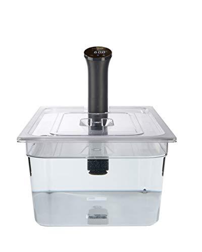 Sous Vide Tools 20 Liter Polycarbonat-Behälter – maßgeschneiderter Deckel für den Anova Nano Sous Vide-Herd – klares Kochgefäß – BPA-frei, antihaftbeschichtet und spülmaschinenfest