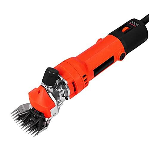 Ovejas maquinilla eléctrica Tijeras lana de oveja Cizalla establecidas para el ganado Cabras herramientas agrícolas Ganadería mascotas del ajuste de la preparación del pelo rojo de la Industria