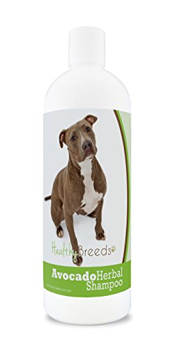 Healthy Breeds Herbal Avocado Dog Shampoo for Dry Itchy Skin for Pit Bull, Brown - OVER 200 BREEDS - For Dogs with Allergies or Sensitive Skin - 16 oz