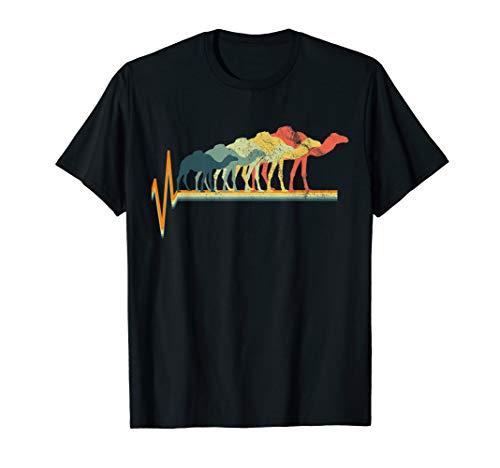 Camel T-Shirt Vintage Tshirt Gift Tee Heartbeat Love Gift