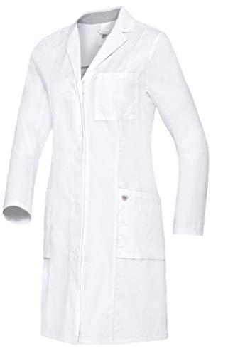 BP Bata médica para Mujer de Manga Larga, Sistema de elevación de Brazos, 205,00 g/m², algodón Puro, Color Blanco, 52n 1754-130-0021-52n