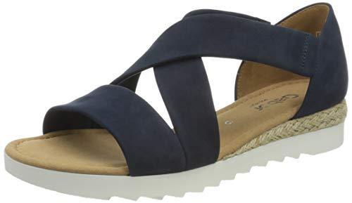 Gabor Shoes Damen Comfort Sport Riemchensandalen, Blau (Navy (Jute) 36), EU