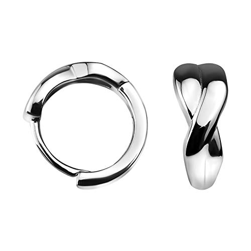 SOFIA MILANI - Damen Ohrringe 925 Silber - Creolen Klein Dünn Geschwungen - 20796