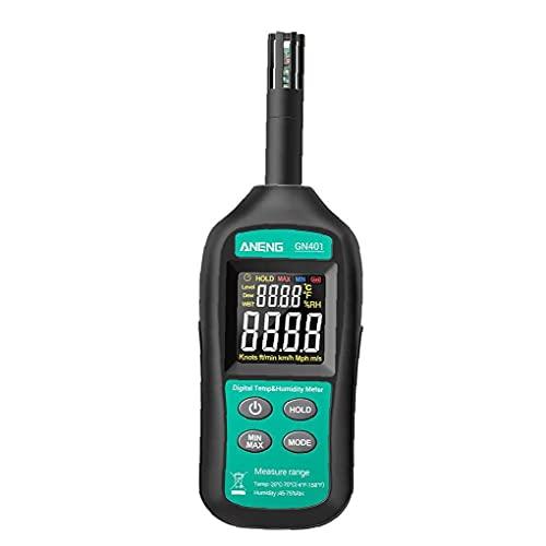 Medidor de temperatura y humedad, termómetro de higrómetro Mini ANENG GN401 Medidor de humedad digital de alta precisión de alta precisión